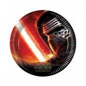 8 stk Star Wars VII Papptallrikar 23 cm - Star Wars