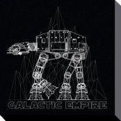 Star Wars Canvas AT-AT 40 x 40 cm