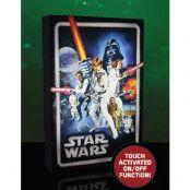 Star Wars Retro Luminart - Canvasbild med Ljus 20x30 cm