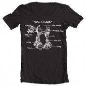 AT-AT Sketch Wide Neck tee, Wide Neck T-Shirt