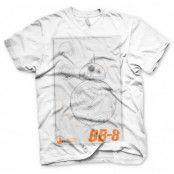 Star Wars BB-8 Blueprint T-Shirt, LARGE