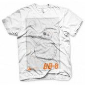 Star Wars BB-8 Blueprint T-Shirt, MEDIUM