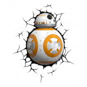 Star Wars BB8 Droid 3D Vägglampa