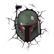 Star Wars Boba Fett 3D Vägglampa