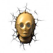 Star Wars C-3PO 3D Vägglampa