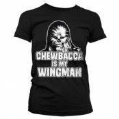 Chewbacca Is My Wingman Girly Tee, T-Shirt