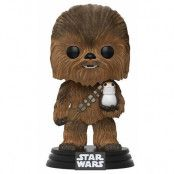 POP! Vinyl Star Wars - Chewbacca with Porg Flocked
