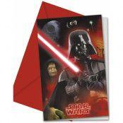 6 stk Inbjudningskort - Star Wars