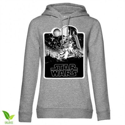 Star Wars Deathstar Poster Girls Hoodie, Girls Organic Hoodie