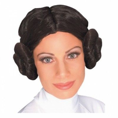 Prinsessan Leia Peruk - One size - Star Wars-butiken acbb121bf7f30