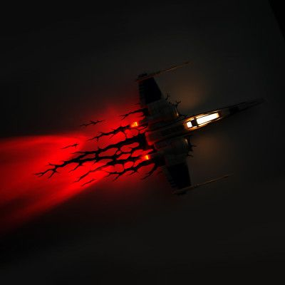 X-Wing 3D Vägglampa