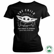 The Force Is Strong With This Little One Organic Girly T-Shirt, 100% Organic Girly T-Shirt