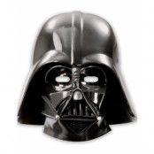 6 stk Dart Vader Pappmasker - Star Wars