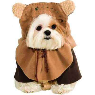 Ewok Maskeraddräkt Hund Xlarge