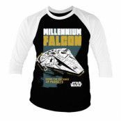 Millennium Falcon - Going The Distance Baseball 3/4 Sleeve Tee, Baseball 3/4 Sleeve Tee