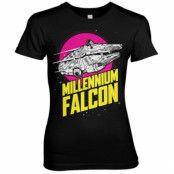 Millennium Falcon Retro Girly Tee, Girly Tee