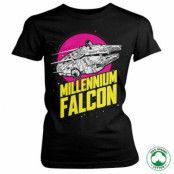 Millennium Falcon Retro Organic Girly Tee, T-Shirt