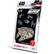Star Wars - Level 2 Easy-Click Snap Model Kit Millenium Falcon