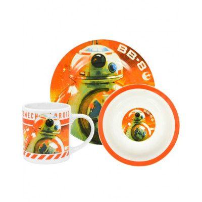 BB-8 Star Wars Licensierat 3 Delars Frukostset