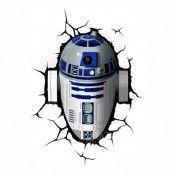 Star Wars R2D2 3D Vägglampa