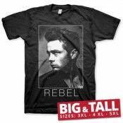 James Dean BW Rebel Big & Tall T-Shirt, Big & Tall T-Shirt