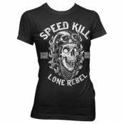 Speed Kills - Lone Rebel Girly T-Shirt, Girly Tee
