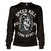 Speed Kills - Lone Rebel Long Sleeve Tee, Long Sleeve T-Shirt