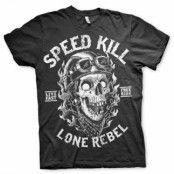 Speed Kills - Lone Rebel T-Shirt, Basic Tee