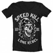 Speed Kills - Lone Rebel Wide Neck T-Shirt, Wide Neck T-Shirt