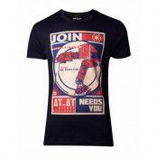 Star Wars AT-AT Poster T-shirt, LARGE