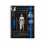 Star Wars, Anteckningsblock med penna - Rey