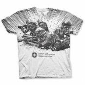Imperial Army Allover T-Shirt, Modern Fit Polyester Tee