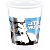 8 stk Star Wars VII Stormtrooper Plastmuggar 200 ml - Star Wars