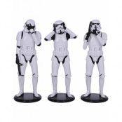 Hear No Evil, See No Evil - 3 stk Stormtrooper Figurer 14 cm