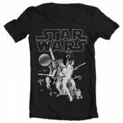 Star Wars Classic Poster Wide Neck Tee, Wide Neck T-Shirt