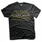 Star Wars The Force Awakens Logo T-Shirt, LARGE
