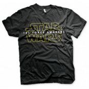 Star Wars The Force Awakens Logo T-Shirt, SMALL