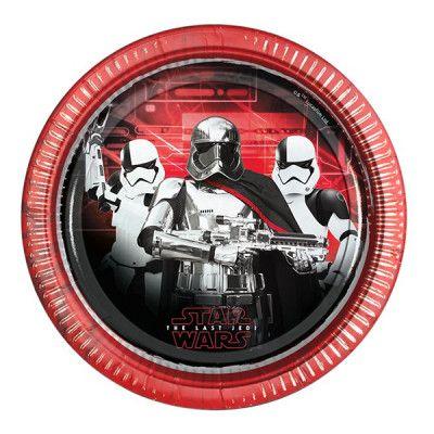 Papperstallrikar Star Wars The Last Jedi - 8-pack