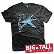 The Last Jedi S-X-378 X-Wing Big & Tall T-Shirt, Big & Tall T-Shirt