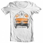 X-Wing Fighter Helmet Wide Neck Tee, Wide Neck Tee