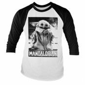 Baby Yoda Photo Baseball Long Sleeve Tee, Baseball Long Sleeve Tee