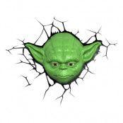 Star Wars Yoda 3D Vägglampa