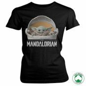 The Mandalorian Baby Yoda Crib Organic Girly T-Shirt, 100% Organic Girly T-Shirt