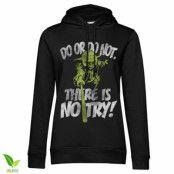 There Is No Try - Yoda Girls Hoodie, Girls Organic Hoodie