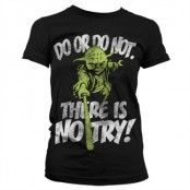 There Is No Try - Yoda Girly T-Shirt, Girly T-Shirt